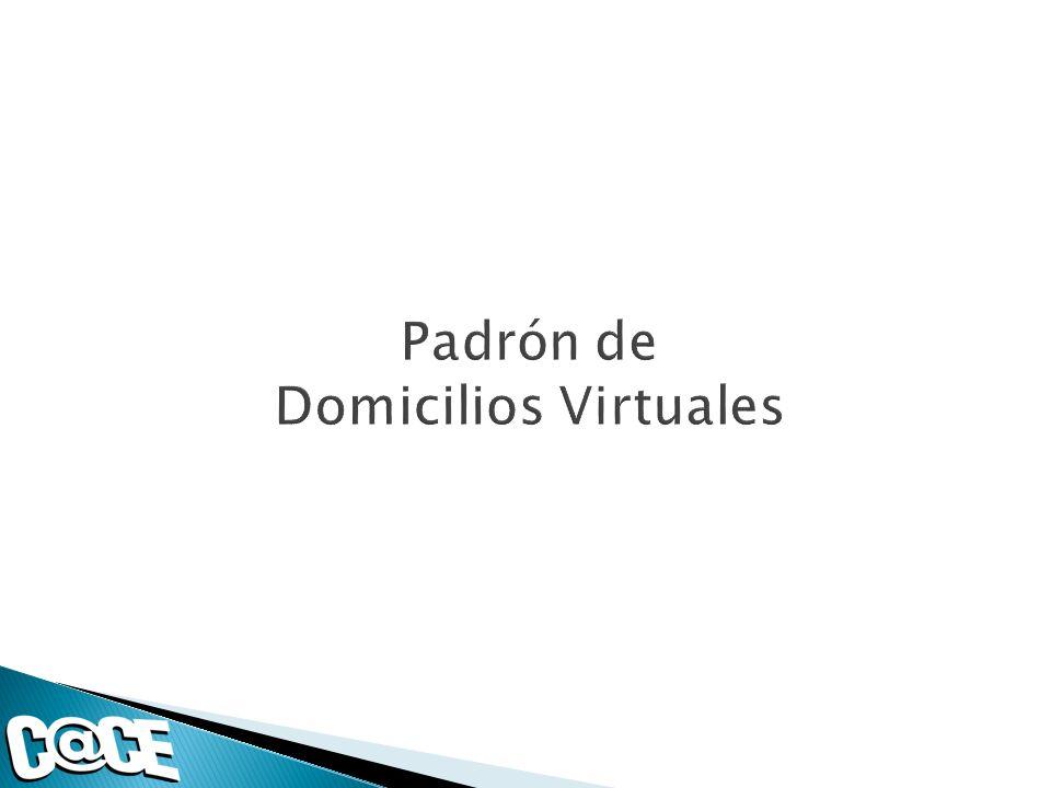 Padrón de Domicilios Virtuales