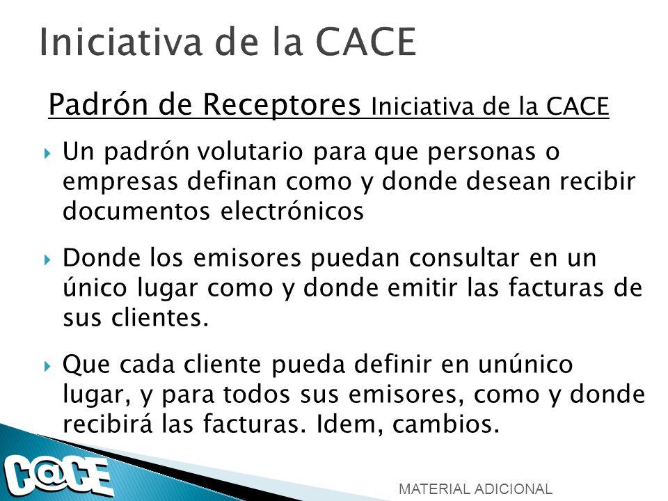 Iniciativa de la CACE Padrón de Receptores Iniciativa de la CACE