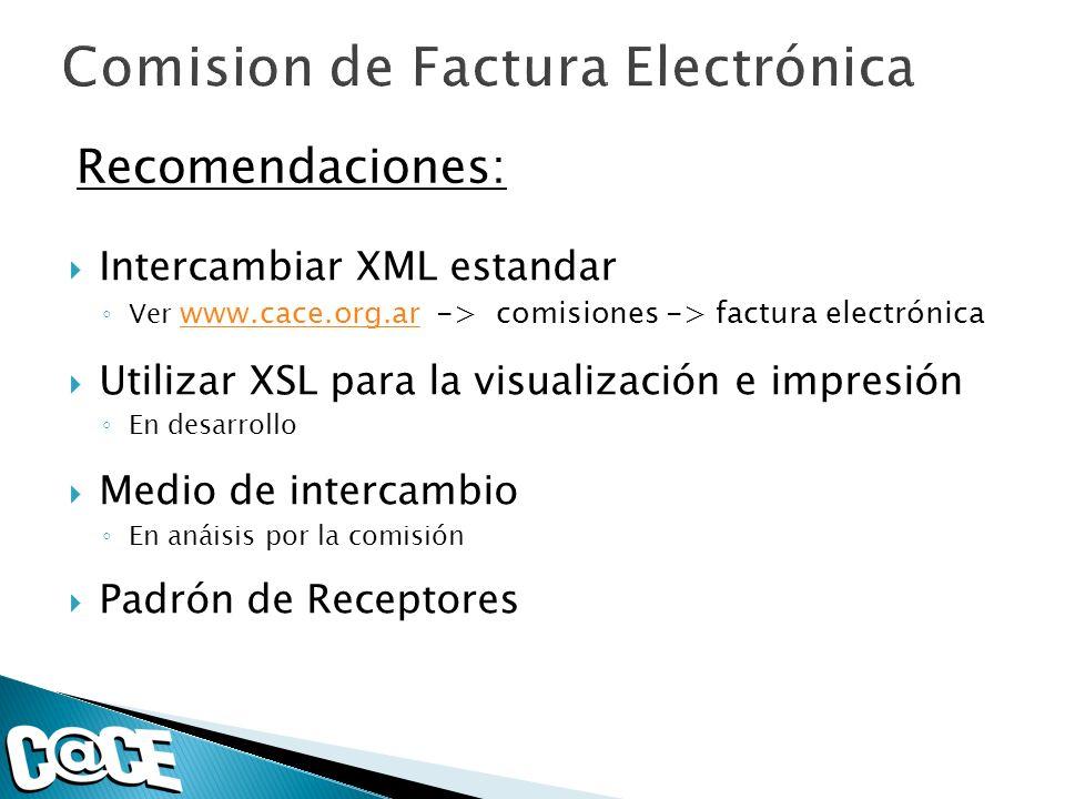 Comision de Factura Electrónica
