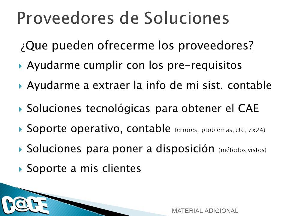 Proveedores de Soluciones