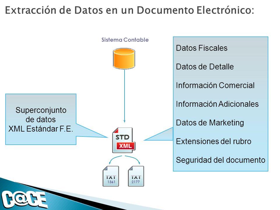 Extracción de Datos en un Documento Electrónico: