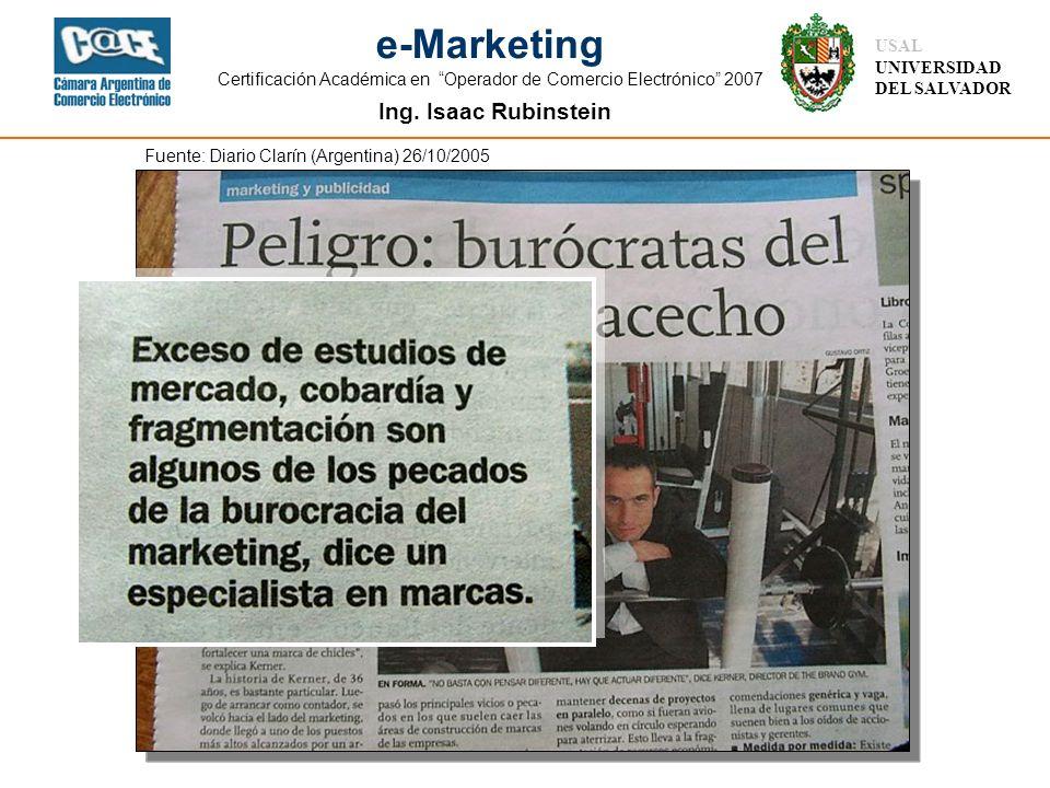 Fuente: Diario Clarín (Argentina) 26/10/2005