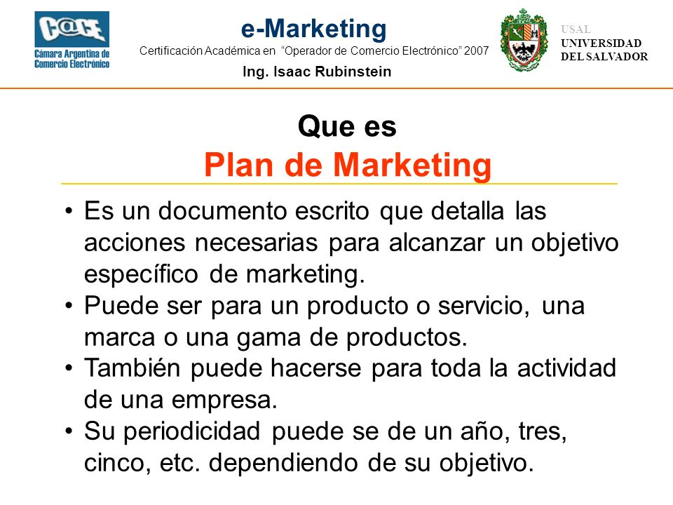Plan de Marketing Que es
