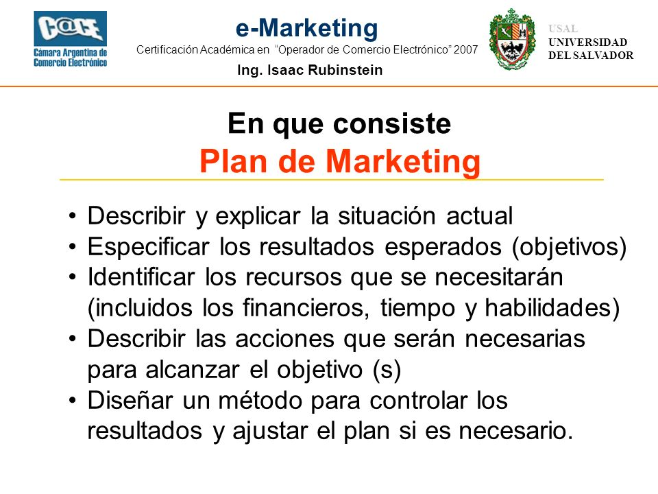Plan de Marketing En que consiste