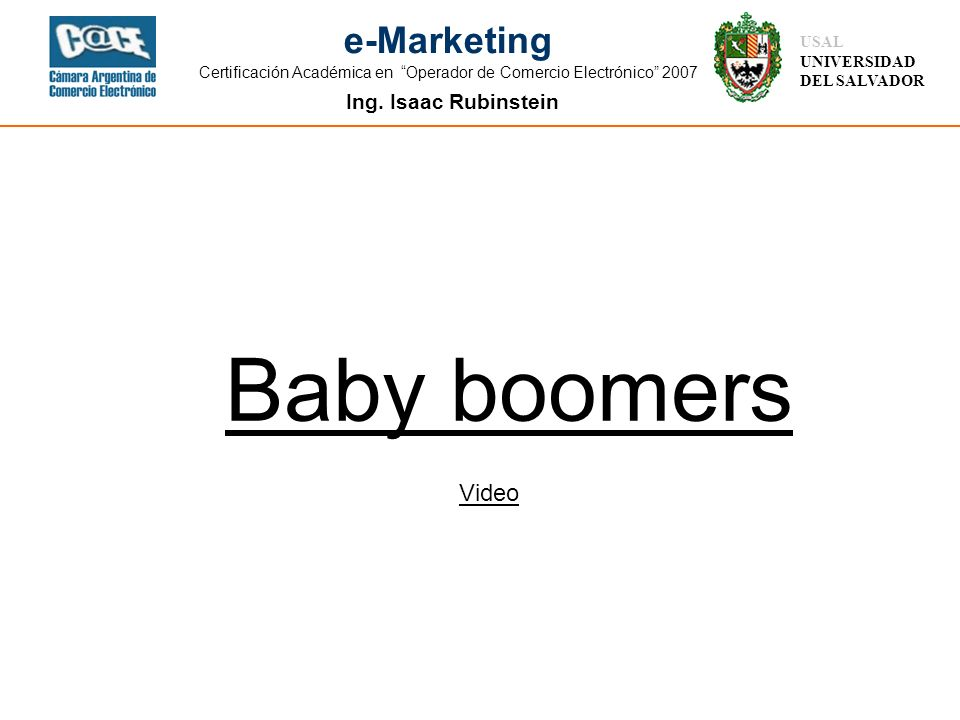 Baby boomers Video