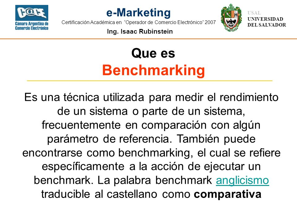 Que es Benchmarking.