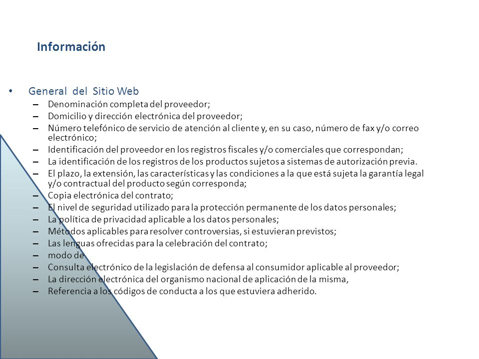 Aspectos legales del comercio electr nico ppt video for Numero atencion al consumidor