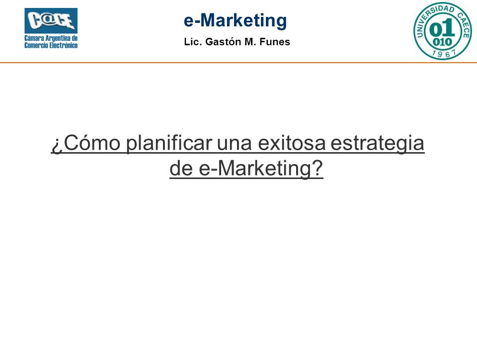 ¿Cómo planificar una exitosa estrategia de e-Marketing
