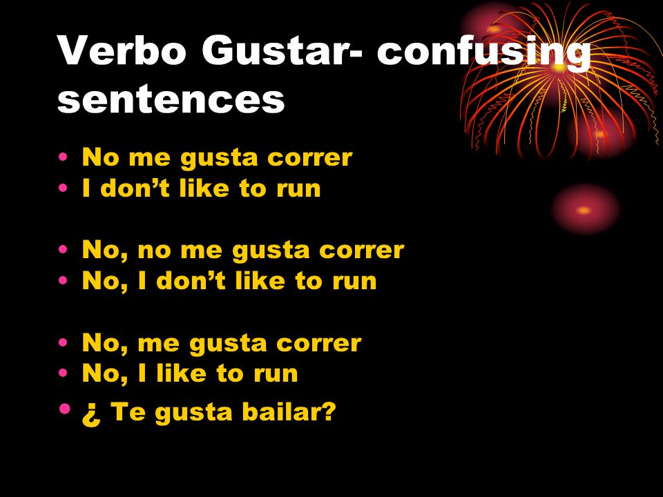 Verbo Gustar- confusing sentences