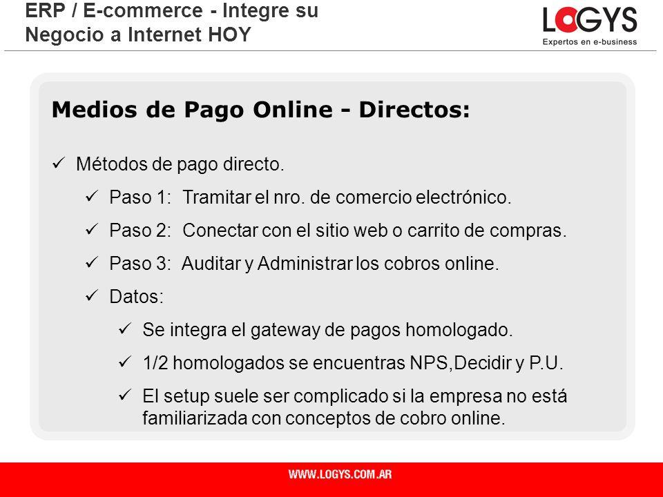 Medios de Pago Online - Directos: