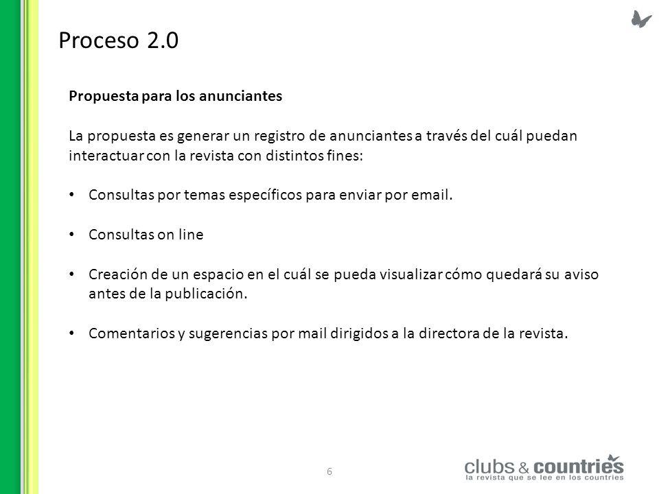 Proceso 2.0 Propuesta para los anunciantes