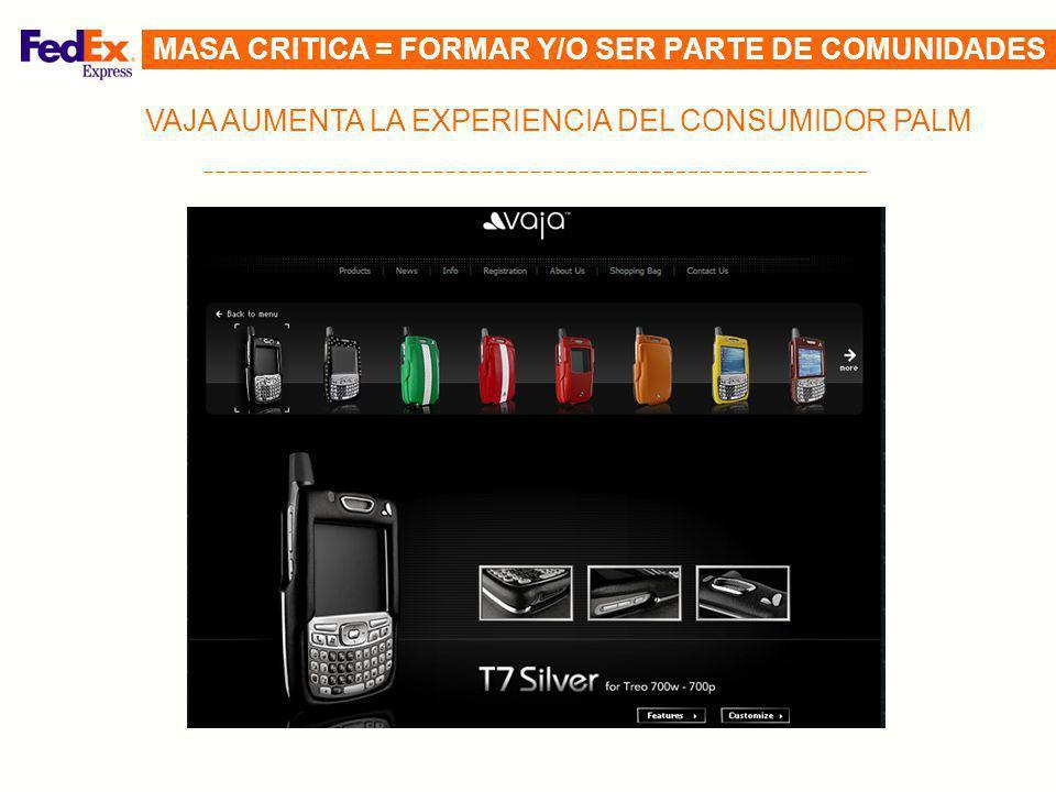 MASA CRITICA = FORMAR Y/O SER PARTE DE COMUNIDADES