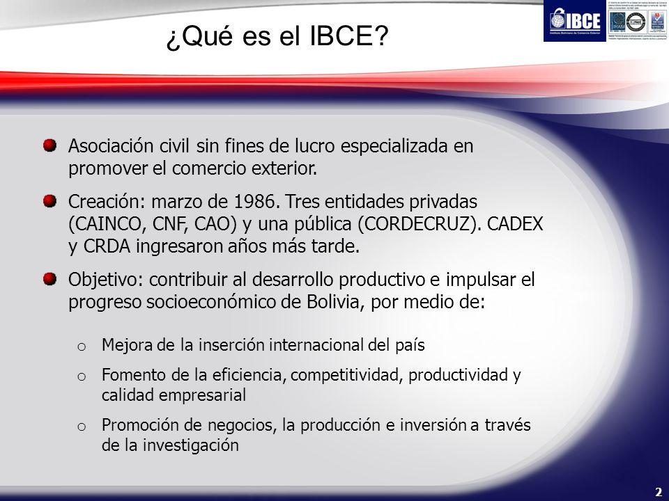 ¿Qué es el IBCE Asociación civil sin fines de lucro especializada en promover el comercio exterior.
