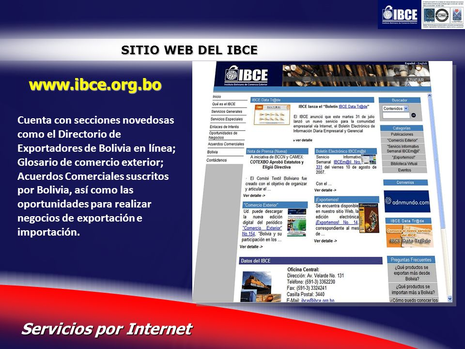 Servicios por Internet