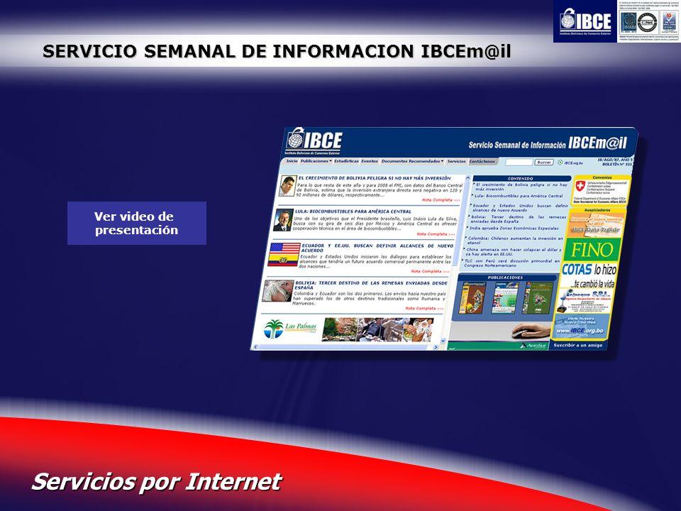 SERVICIO SEMANAL DE INFORMACION IBCEm@il