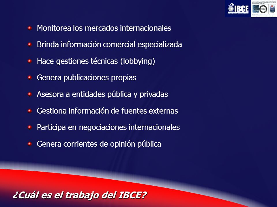 ¿Cuál es el trabajo del IBCE