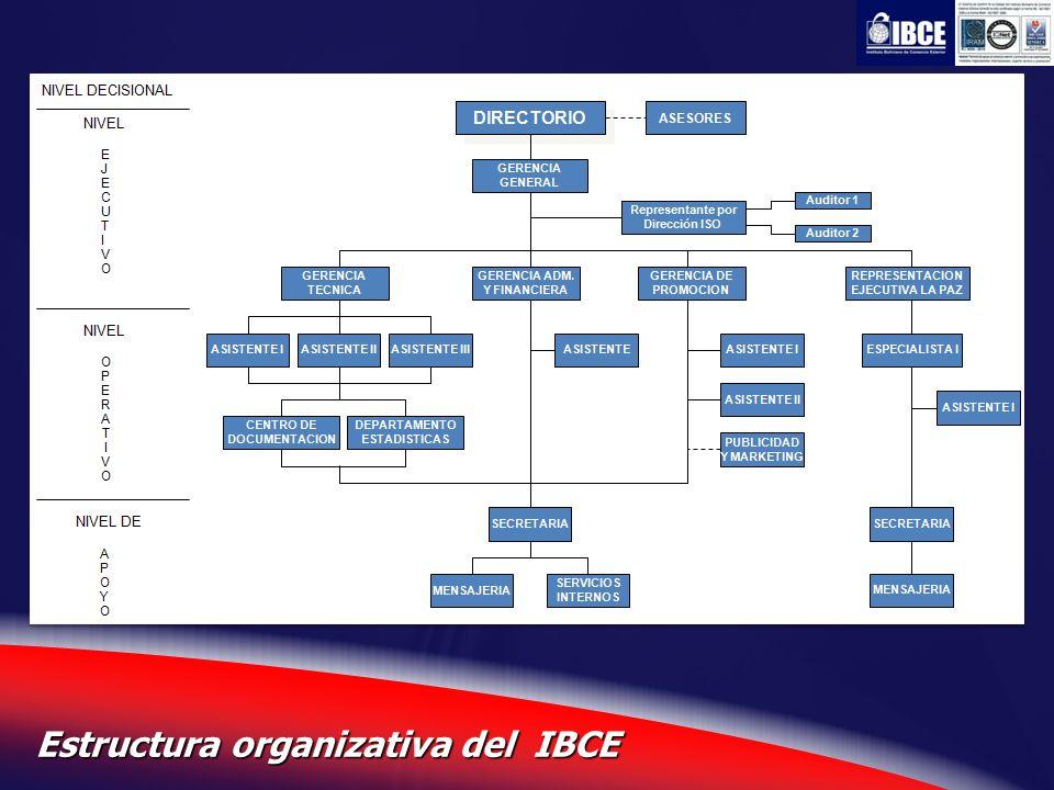 Estructura organizativa del IBCE