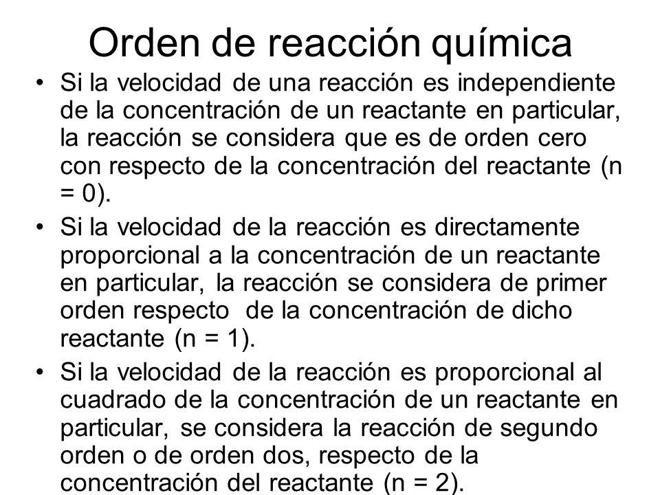 Orden de reacción química