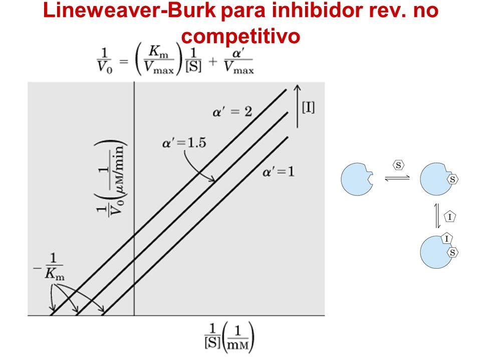 Lineweaver-Burk para inhibidor rev. no competitivo
