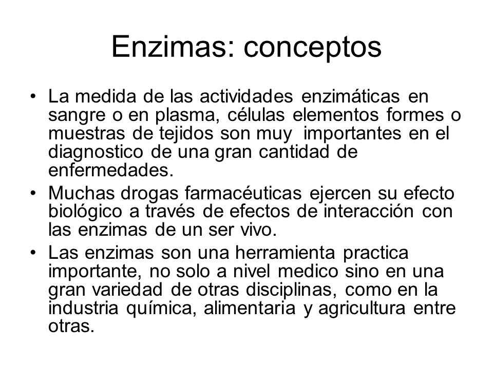 Enzimas: conceptos