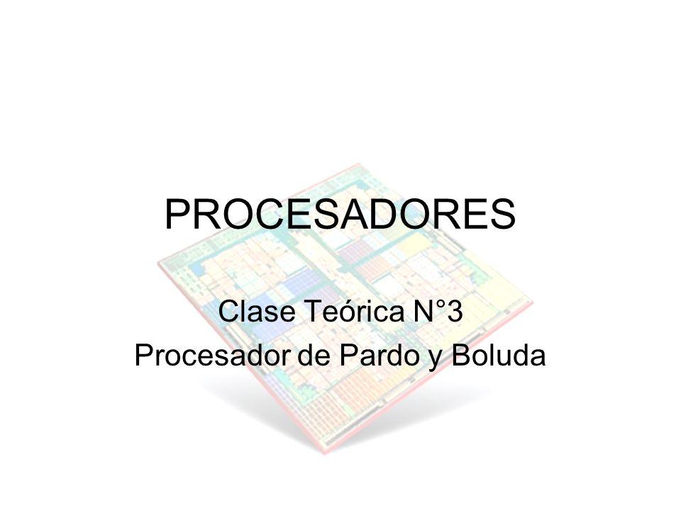 Clase Teórica N°3 Procesador de Pardo y Boluda