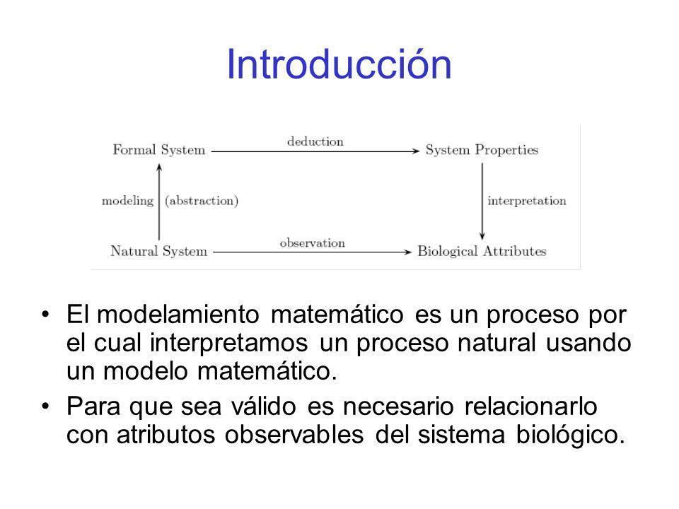 Introducción El modelamiento matemático es un proceso por el cual interpretamos un proceso natural usando un modelo matemático.
