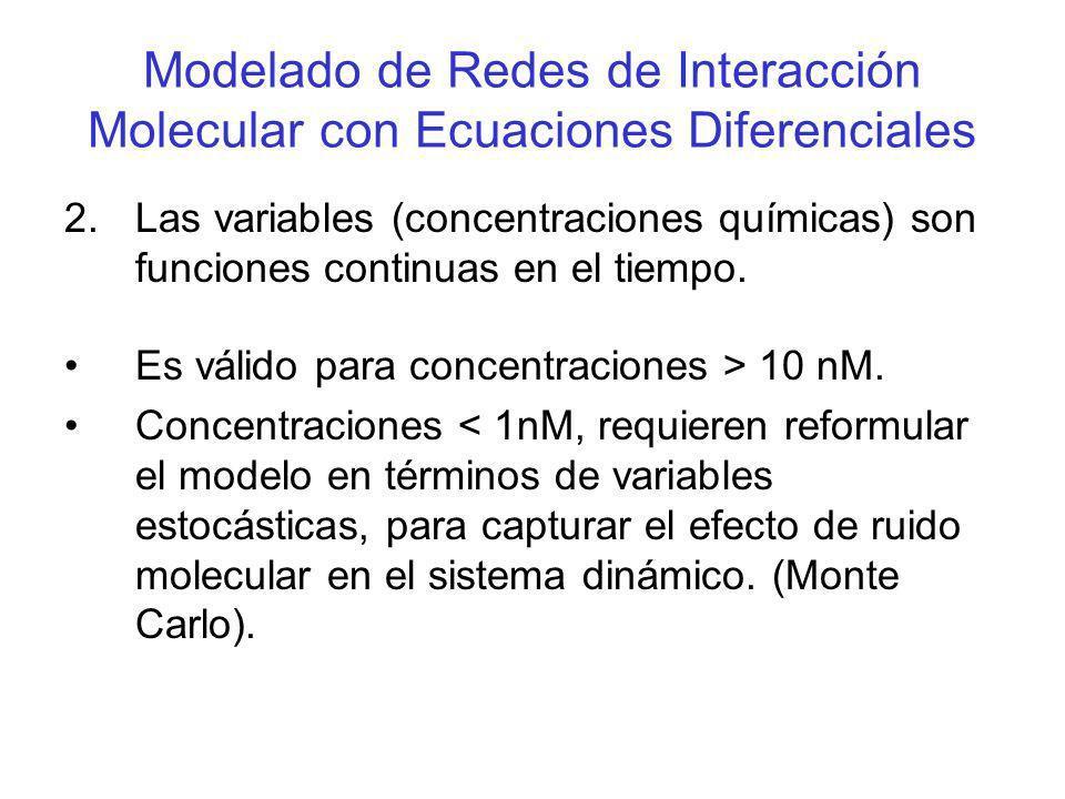 Modelado de Redes de Interacción Molecular con Ecuaciones Diferenciales