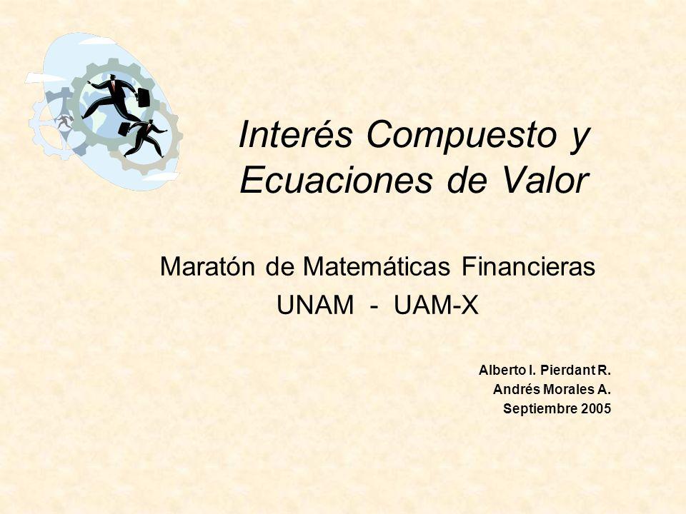 Interés Compuesto y Ecuaciones de Valor