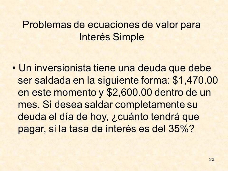 Problemas de ecuaciones de valor para