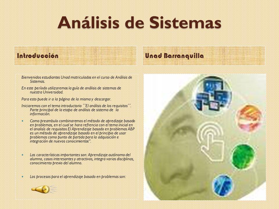 Análisis de Sistemas Introducción Unad Barranquilla