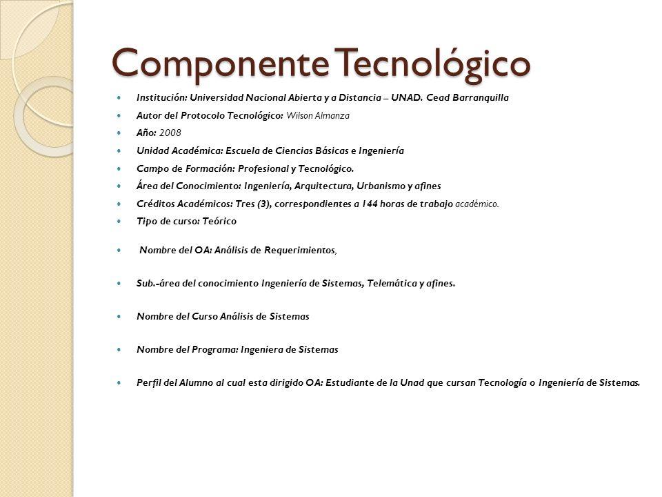 Componente Tecnológico