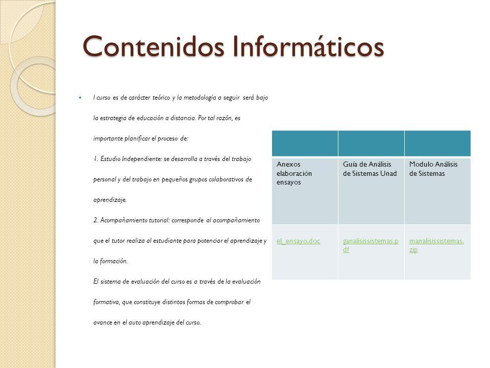 Contenidos Informáticos