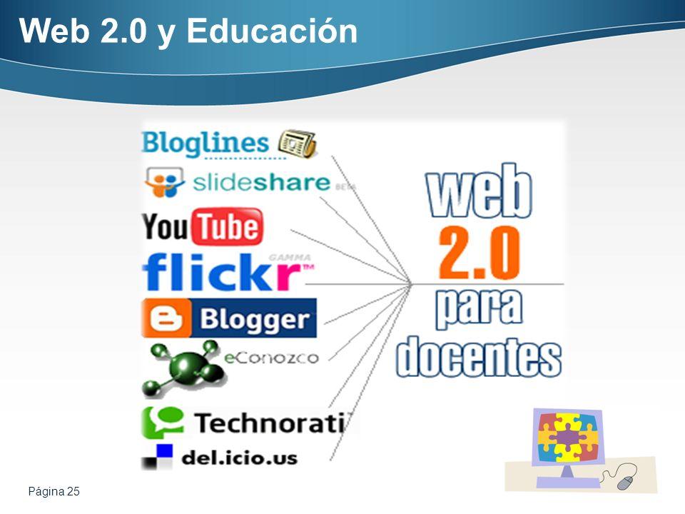 Web 2.0 y Educación Página 25