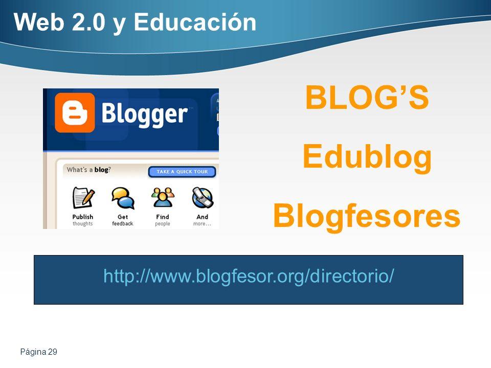 BLOG'S Edublog Blogfesores