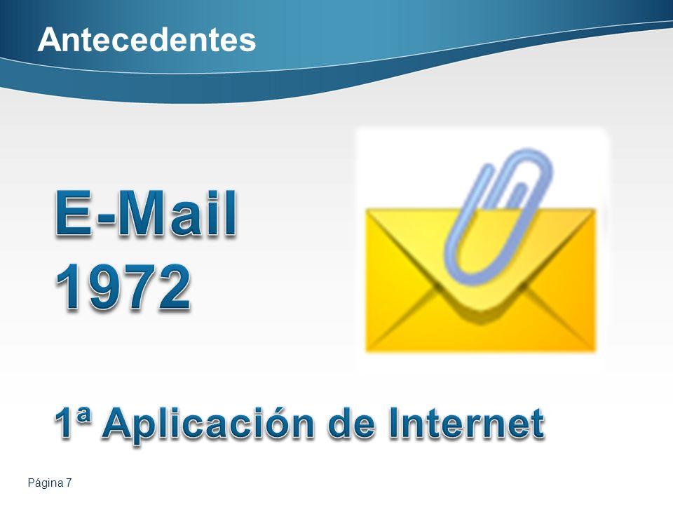 Antecedentes E-Mail 1972 1ª Aplicación de Internet Página 7