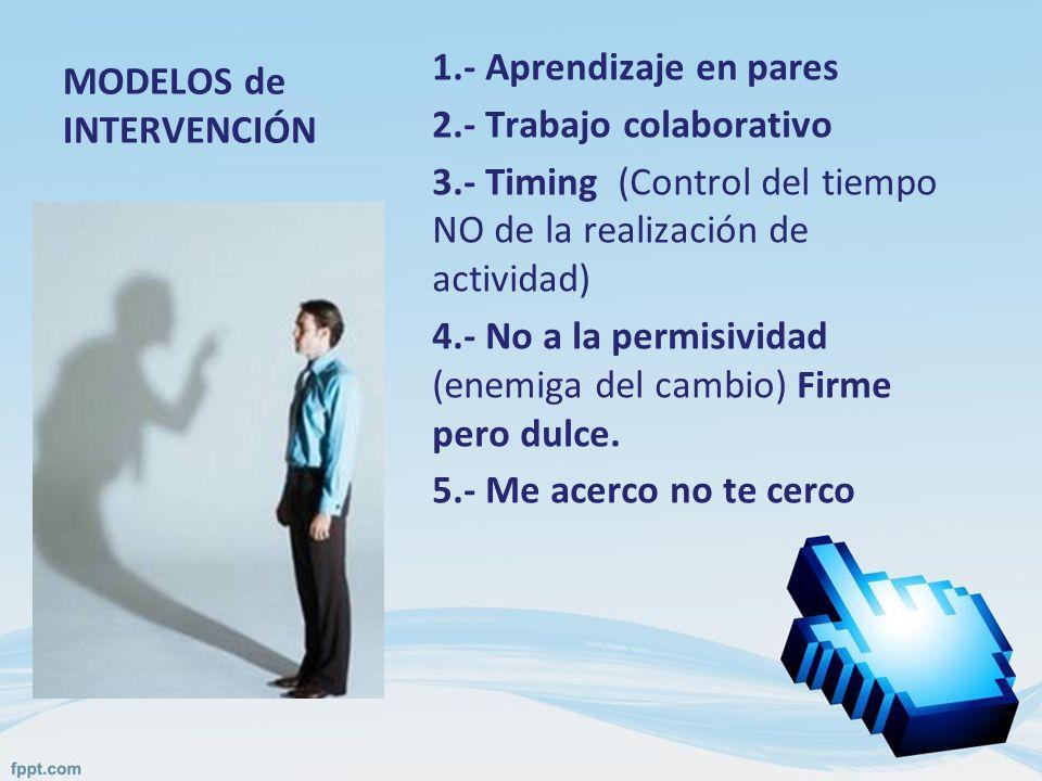 MODELOS de INTERVENCIÓN