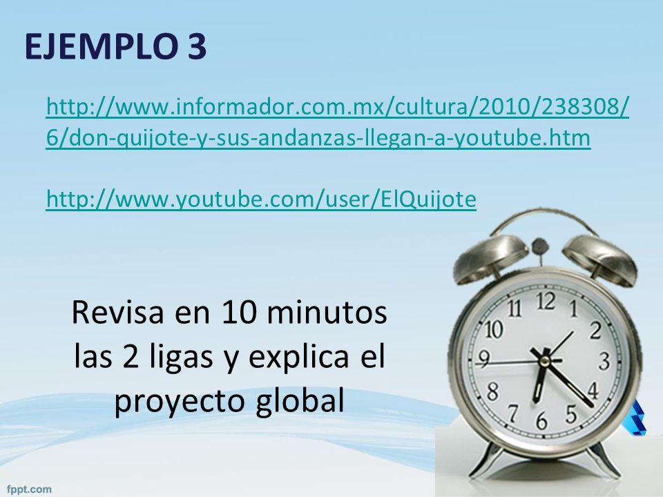 Revisa en 10 minutos las 2 ligas y explica el proyecto global