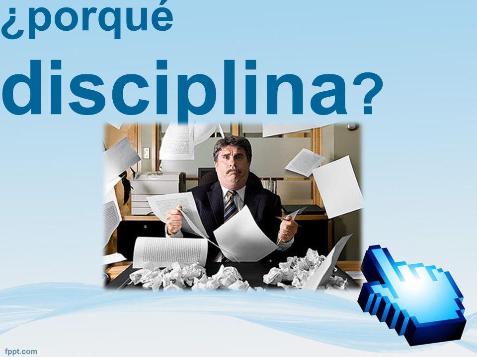 ¿porqué disciplina