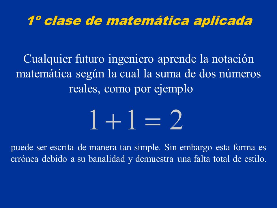1º clase de matemática aplicada