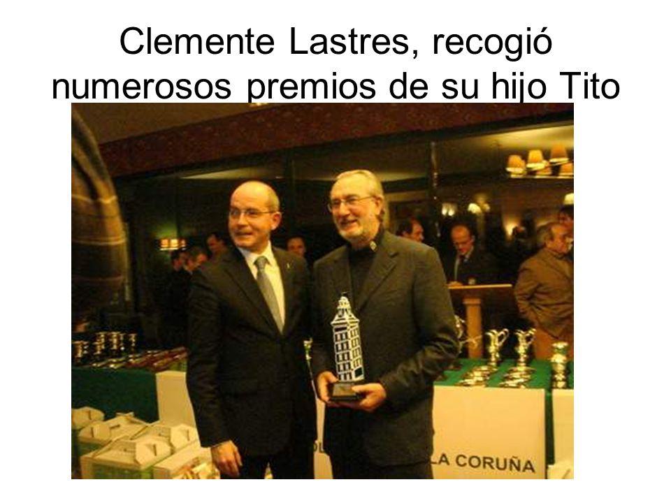 Clemente Lastres, recogió numerosos premios de su hijo Tito