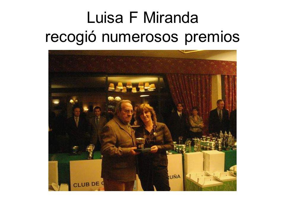 Luisa F Miranda recogió numerosos premios
