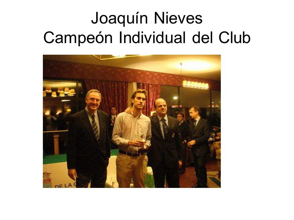 Joaquín Nieves Campeón Individual del Club