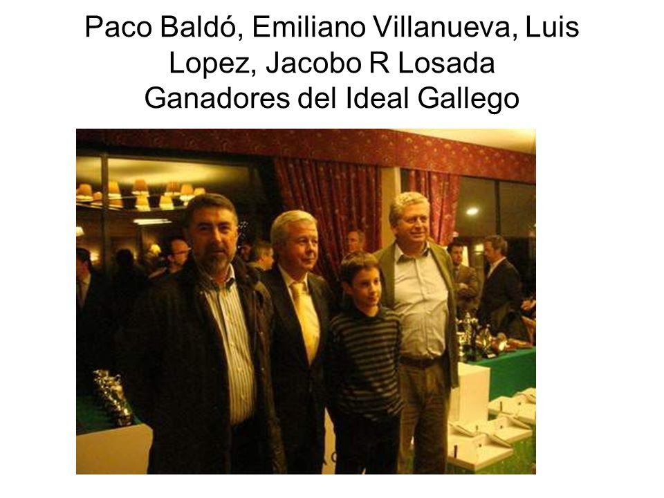 Paco Baldó, Emiliano Villanueva, Luis Lopez, Jacobo R Losada Ganadores del Ideal Gallego