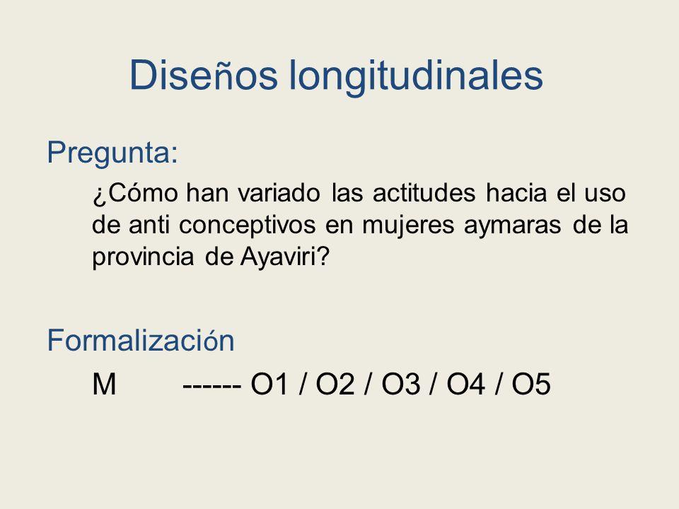 Diseños longitudinales
