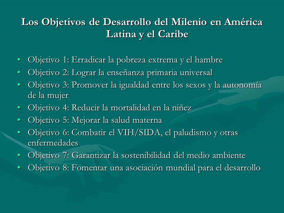 Los Objetivos de Desarrollo del Milenio en América Latina y el Caribe