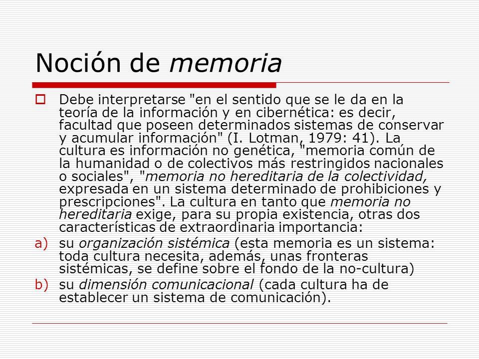 Noción de memoria