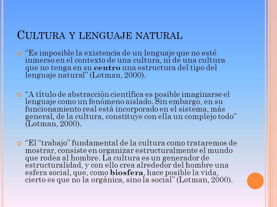 Cultura y lenguaje natural