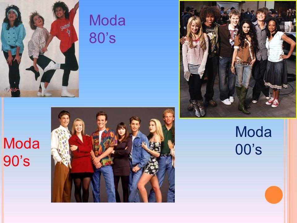 Moda 80'sModa 00's.Moda 90's.