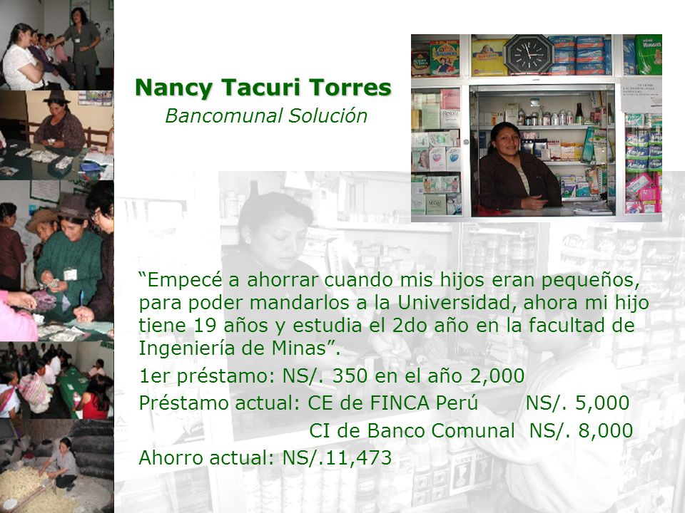 Nancy Tacuri Torres Bancomunal Solución