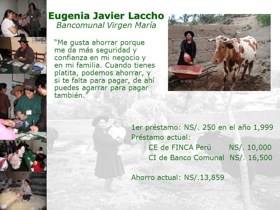 Eugenia Javier Laccho Bancomunal Virgen María